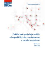 Fiskální pakt potřebuje rozšířit o hospodářský růst. zaměstnanost a sociální soudržnost
